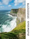 the cliffs of moher  irelands... | Shutterstock . vector #1010231578