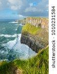 the cliffs of moher  irelands... | Shutterstock . vector #1010231584