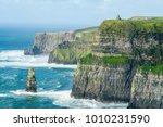 o'brien's tower on the cliffs... | Shutterstock . vector #1010231590
