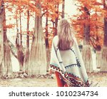 unrecognizable young woman...   Shutterstock . vector #1010234734