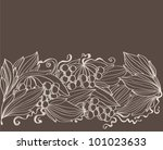 autumn background with branches ... | Shutterstock .eps vector #101023633