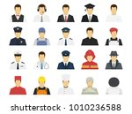 professions set avatar icons.... | Shutterstock .eps vector #1010236588