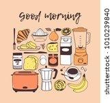 hand drawn illustration food ... | Shutterstock .eps vector #1010239840