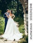 full length wedding portrait of ... | Shutterstock . vector #1010242348