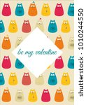 be my valentine lovely greeting ... | Shutterstock .eps vector #1010244550