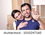 portrait of a couple in love... | Shutterstock . vector #1010247160