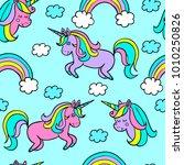 cartoon patch. vector seamless... | Shutterstock .eps vector #1010250826