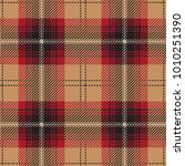 beige and red tartan plaid... | Shutterstock .eps vector #1010251390