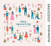 a poster with older couples on... | Shutterstock .eps vector #1010251969