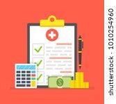 medical insurance  medical care ... | Shutterstock .eps vector #1010254960