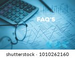financial reports and faq's...   Shutterstock . vector #1010262160