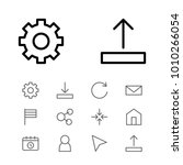 web icons set with flag  share...