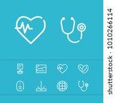 photo icon with stethoscope ...