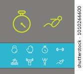 training icons set with athlete ...   Shutterstock .eps vector #1010266600