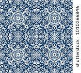 vector arabesque pattern.... | Shutterstock .eps vector #1010266846