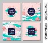 cover design set. creative...   Shutterstock .eps vector #1010268253