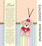 baby shower card with teddy bear | Shutterstock .eps vector #101027473