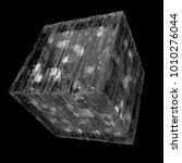 3d rendered complex structured... | Shutterstock . vector #1010276044