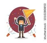 celebration colorful confetti... | Shutterstock .eps vector #1010280853