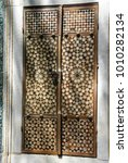 Small photo of Door with mother of pearl inlays in the Harem in Topkapi Palace, in Istanbul, Turkey