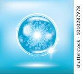blue collagen vitamin droplet... | Shutterstock .eps vector #1010287978