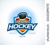 hockey sport team logotype...   Shutterstock .eps vector #1010289070