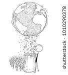 cartoon stick man drawing... | Shutterstock .eps vector #1010290378