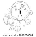 cartoon stick man drawing... | Shutterstock .eps vector #1010290384