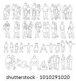 sketch people  set | Shutterstock .eps vector #1010291020