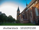 welcome kaliningrad cathedral... | Shutterstock . vector #1010292100