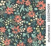 nice vector seamless flower... | Shutterstock .eps vector #1010294209