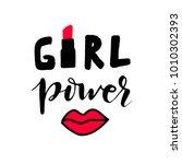 vector calligraphy phrase girl...   Shutterstock .eps vector #1010302393