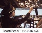 Female Pilot The Captain Of Th...