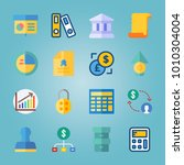 icon set about banking with... | Shutterstock .eps vector #1010304004