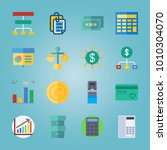 icon set about banking with... | Shutterstock .eps vector #1010304070