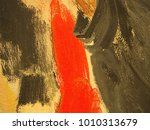 canvas with hand drawn abstract ... | Shutterstock . vector #1010313679