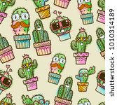 Cactus Seamless Pattern ...