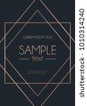 geometric rose gold design... | Shutterstock .eps vector #1010314240