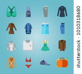 icon set about clothes and... | Shutterstock .eps vector #1010318680