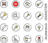 line vector icon set   baggage... | Shutterstock .eps vector #1010327359