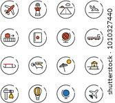 line vector icon set   plane... | Shutterstock .eps vector #1010327440