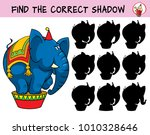 circus elephant. find the... | Shutterstock .eps vector #1010328646