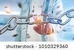 view of a weak link of a broken ... | Shutterstock . vector #1010329360