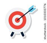 dart board destination  | Shutterstock .eps vector #1010333776