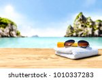 desk of free space for your... | Shutterstock . vector #1010337283