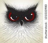 Stock vector hand draw owl big eye 101033980