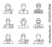 professions linear icons set....   Shutterstock . vector #1010341906