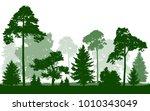 forest green silhouette vector  ... | Shutterstock .eps vector #1010343049