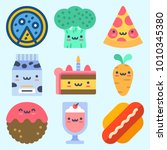 icons set about food with... | Shutterstock .eps vector #1010345380