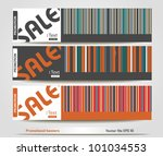 promotional banners   Shutterstock .eps vector #101034553